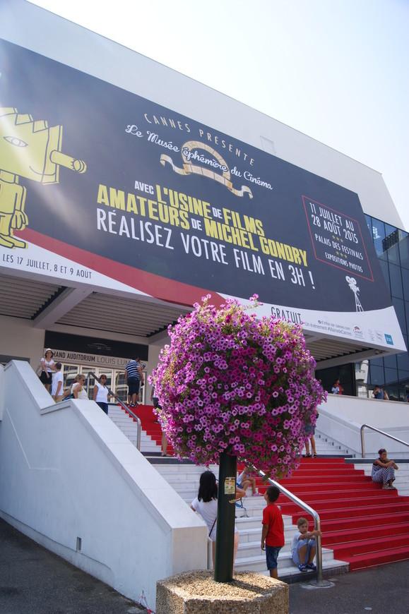 А это Дворец кинофестивалей и конгрессов)) Красная дорожка пользуется популярностью)
