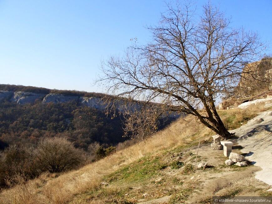 Из Иосафатовой долины начинается подъём на Чуфут-Кале.