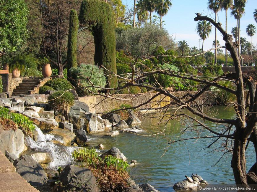 Оформление берегов паркового озера