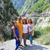 Мои туристы на каньоне Морача