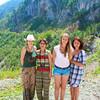 Мои гости из Москвы в каньоне Тары