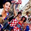Веселые хорватские болельщицы