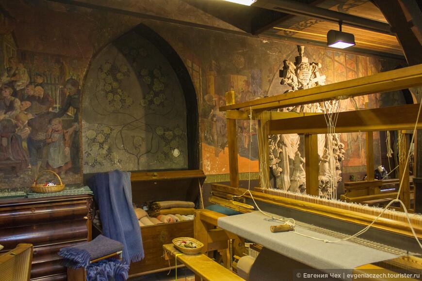 В монастыре работает собственная прядильная мастерская
