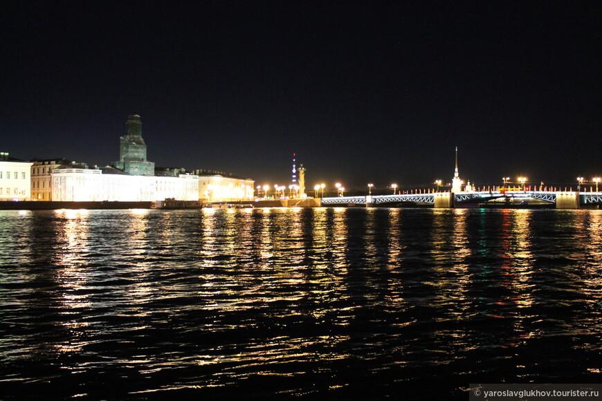 Ночная Нева.