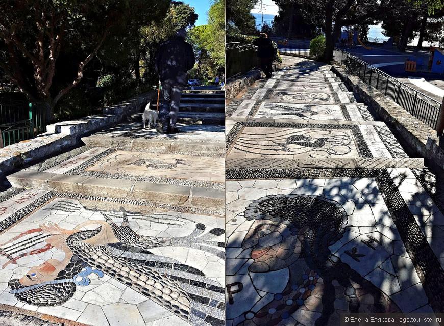 Дорожки со ступенями на Замковом холме. Возможно, это дань грекам, которые первыми обосновались на холме в IV в. до н.э.