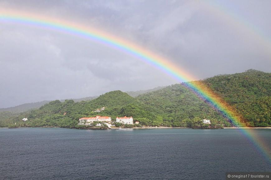 Доминикана нас встречала радугами, развесив их одну за другой...