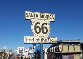 Санта-Моника пирс с туристами