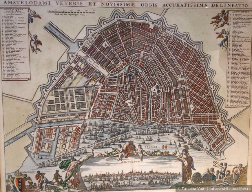 Древняя карта Амстердама