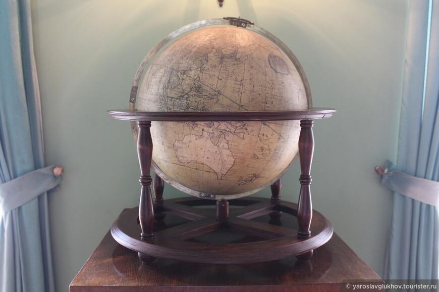 Глобус в Царскосельском лицее.