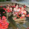 ванна с цветами
