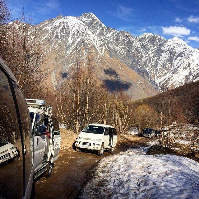Приключение в  Казбеги , конец марта 2016 г.