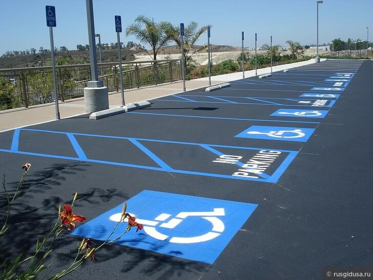 Правила парковки в США