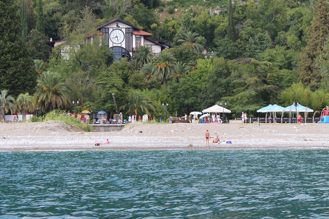Пляжи старой гагры фото