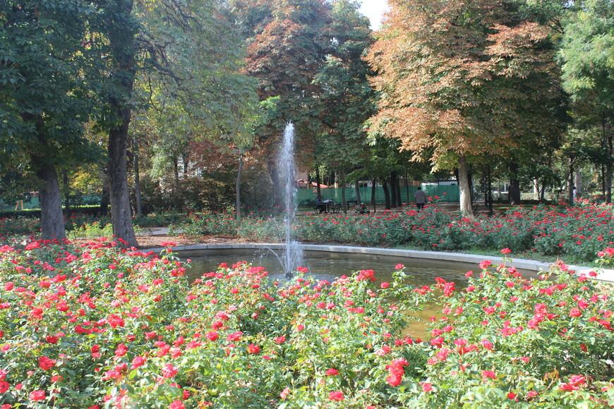 Очень много красивых фонтанов в Парке Ретиро