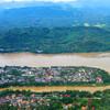 Луангпрабанг. Вид с воздуха.