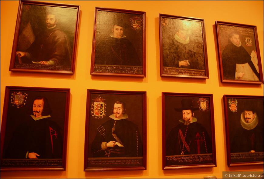 Галерея испанских  губернаторов.