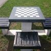 Шахматный столик в центральном парке