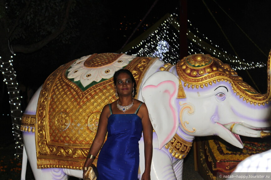 Слоники, встречающие гостей у входа - первая декорация, где фотографируются гости праздника