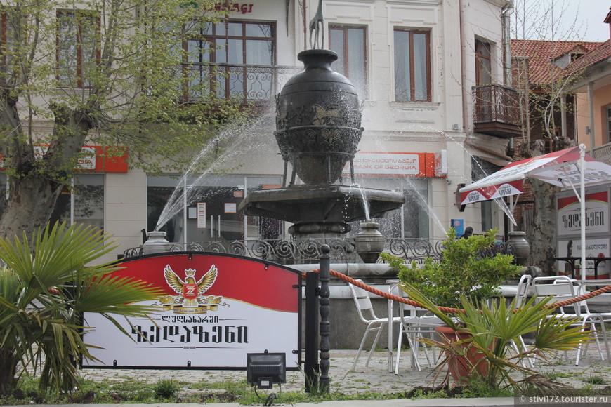 Вот такой фонтан в Сигнахи.