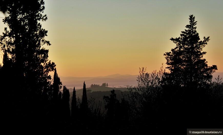 А закаты в Тоскане везде мировые.