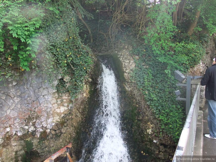 Одна из речушек, впадающих в Рейн рядом с водопадом