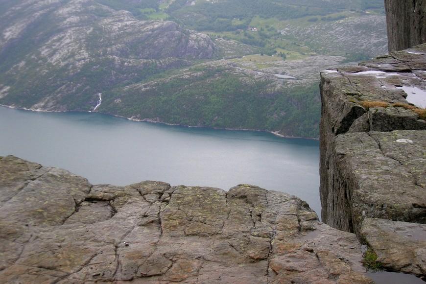 Лисефьорд с высоты 604 метра