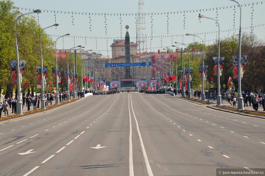 В этом году основные праздничные мероприятия были сконцентрированы на площади Победы.Обошлось без военного парада.