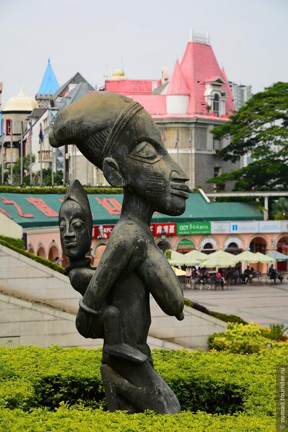 Полинезийская скульптура.