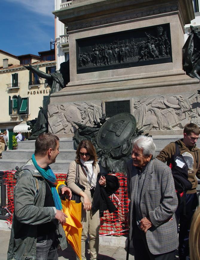 Самый известный гид по Венеции Бруно Ногара (справа на фото)