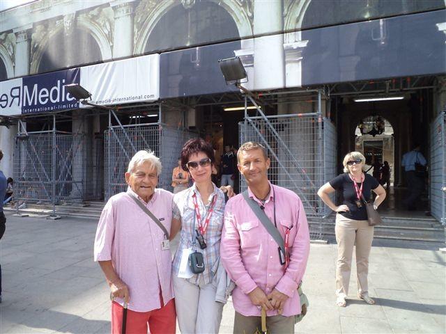 фото с самым известным гидом Венеции Бруно Ногара - мне посчастливилось работать с ним!