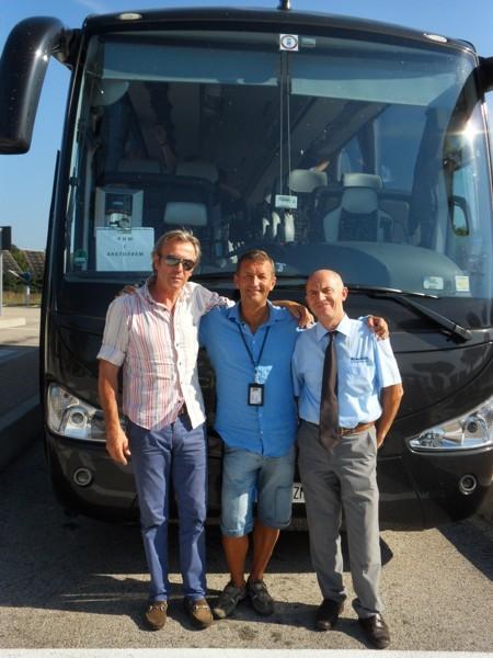 мои водители Франко (слева) и Доменико (справа)