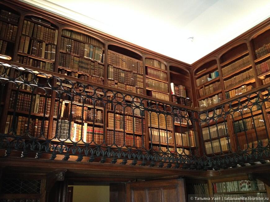 Галерея с книгами. Библиотека в кабинете писателя.