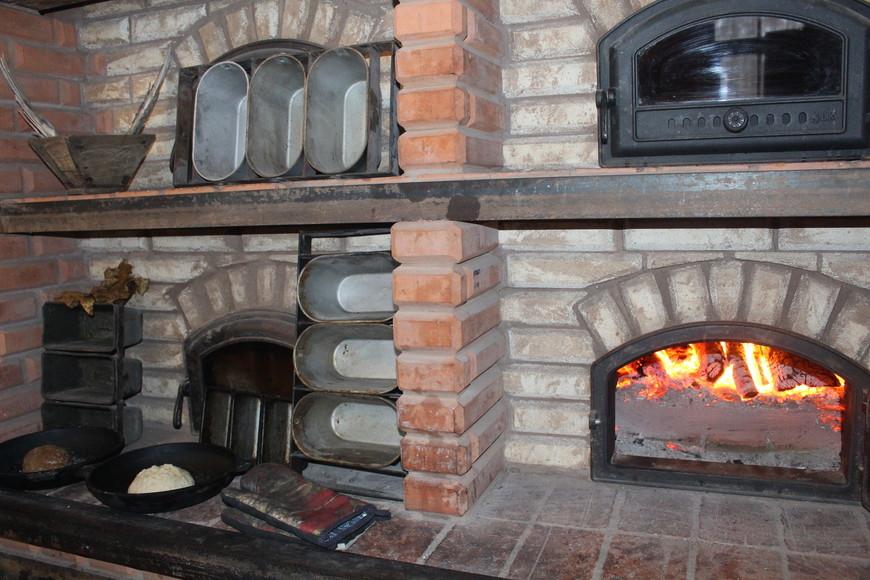 В этой печи выпекают хлеб