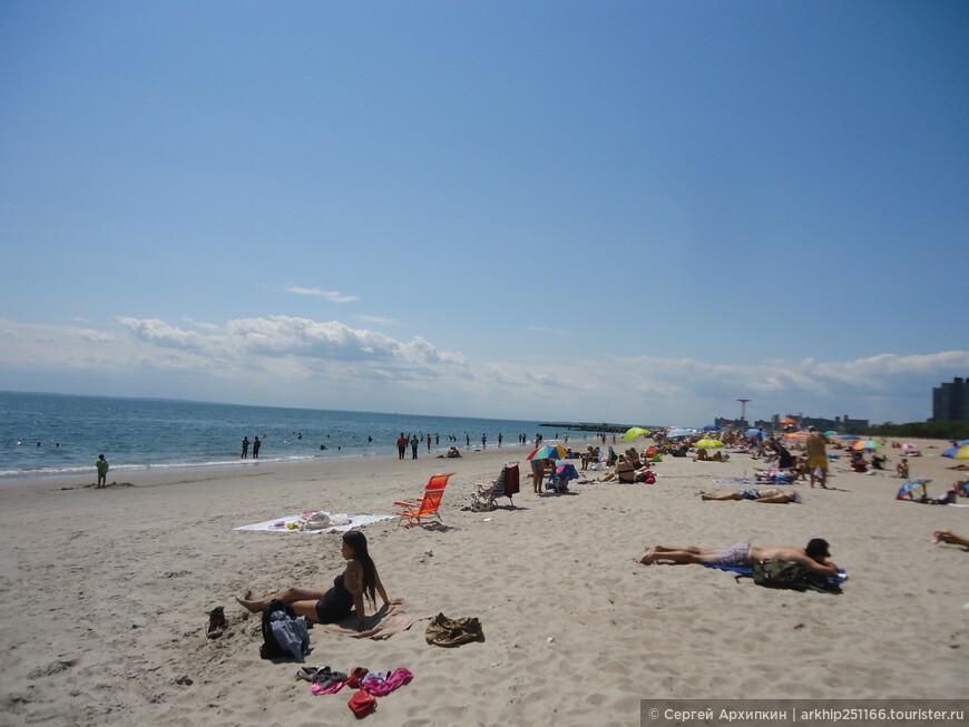 Пляж на Брайтон-бич
