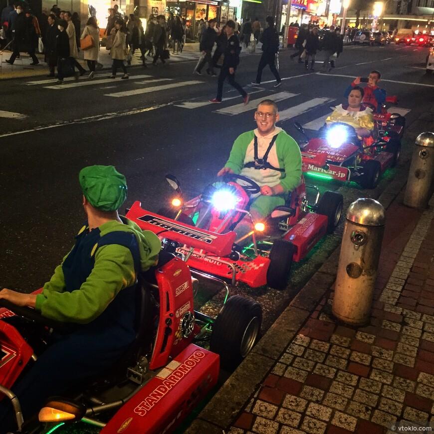 В Токио можно почуствовать себя одним из братьев Супер-Марио и прокатиться на картах.