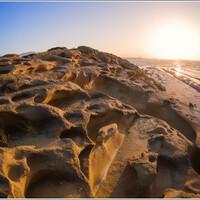 Пляж Алагади на закате.