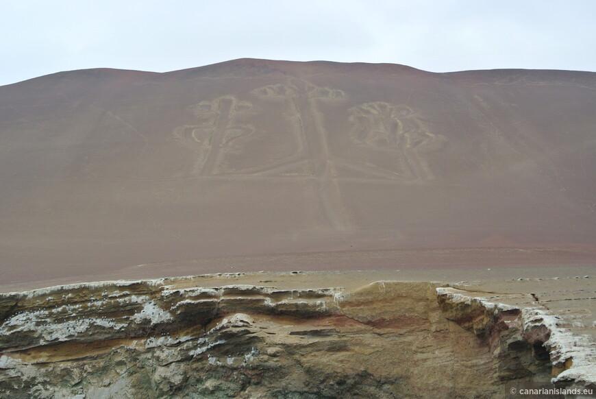 Знаменитый перуанский канделябр, сродни линиям Наски. Вопросов больше чем...