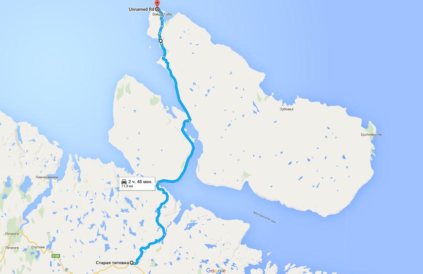 """В районе пограничного поста у Старой Титовки на трассе Р-21 """"Кола"""" есть отворот грунтовой дороги, которая вдоль реки Титовка ведет на полуострова Средний и Рыбачий."""