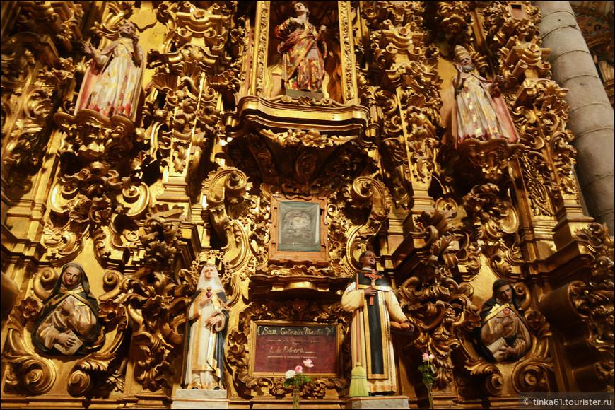 Детали второго  алтаря храма Святого Доминго.