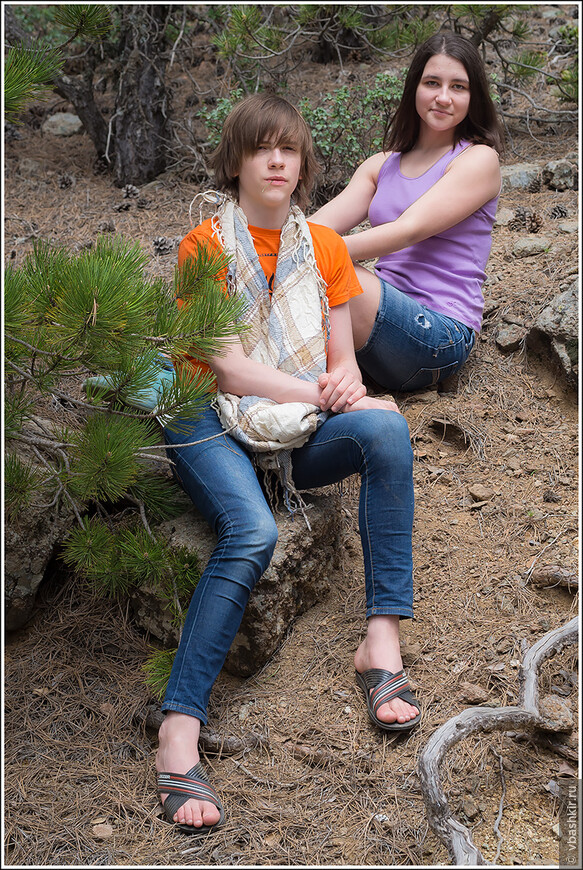 Детки в горах Троодос.