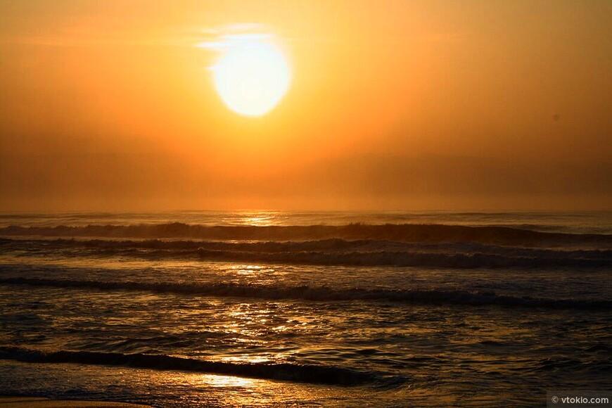 Рассвет в в стране восходящего солнца.