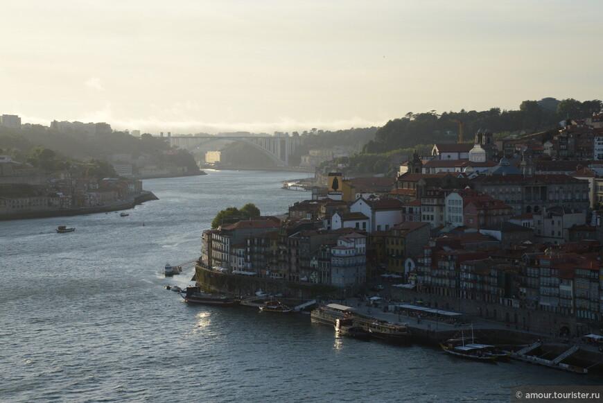 Здесь вид на набережные Порто
