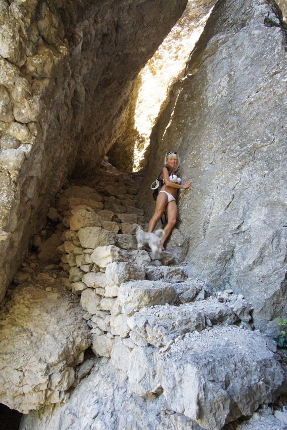 Таврская лестница на Караул Обе