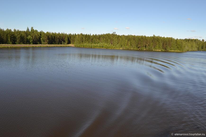 Иногда водная гладь отодвигает прибрежные леса.