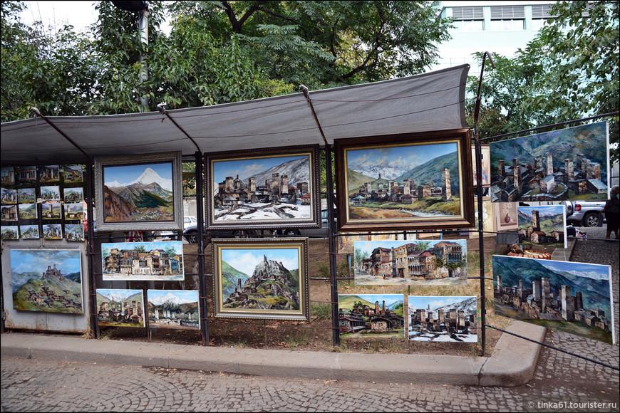 Сухой мост, где продают свои картины грузинское художники. Купила себе одну картинку.