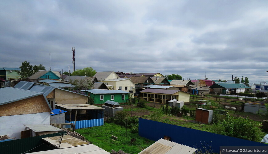 Вид на Соль-Илецк с балкона отеля.