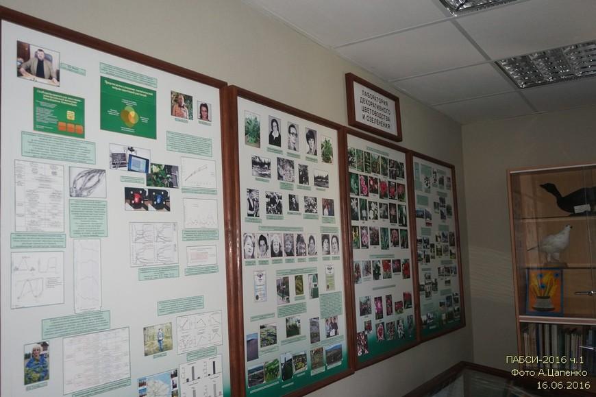Стенды лаборатории декоративного цветоводства и озеленения