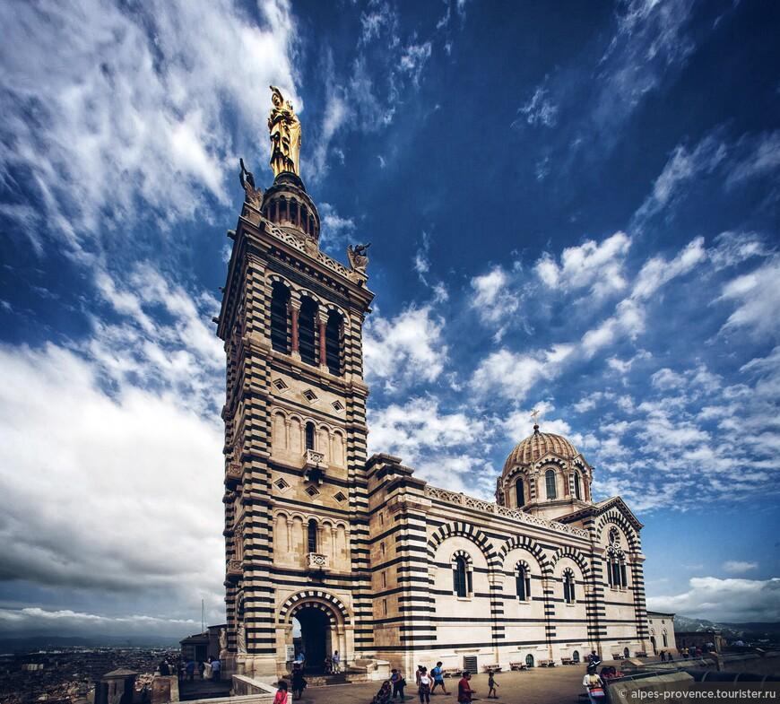 Базилика Нотр Дам Де Ла Гард. Марсель. Франция.