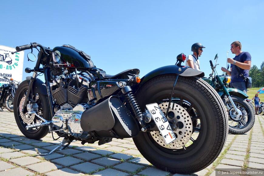 Удивило огромное колличество мотоциклов на въезде к фестивалю.Внушительная вереница осталась возле входа,но и там попадаются такие красавцы!