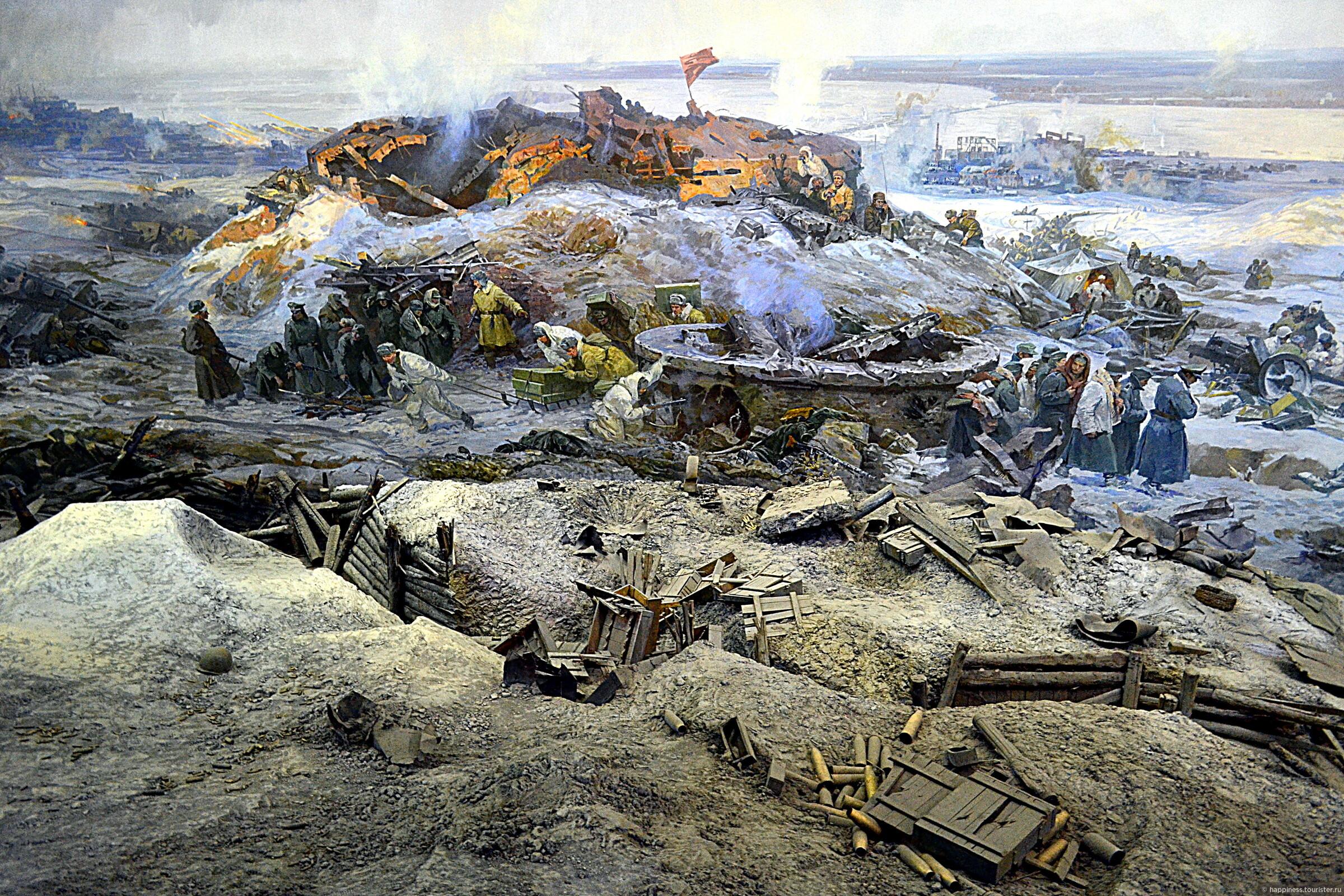 Панорама сталинградская битва фото